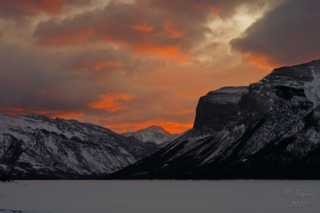 Nick's sunrise photo from Banff