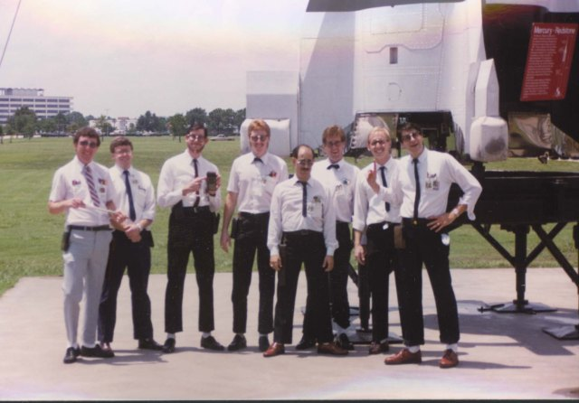 A bunch of us young NASA engineers having some fun poking at what our bosses used to look like.  Dave, Jerry, clay, Blair, Dave, Rick, Kevin, Rex to name a few.  Many of them probably don't want anyone to see that pic!