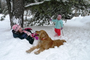 Playing in the snow a few years ago