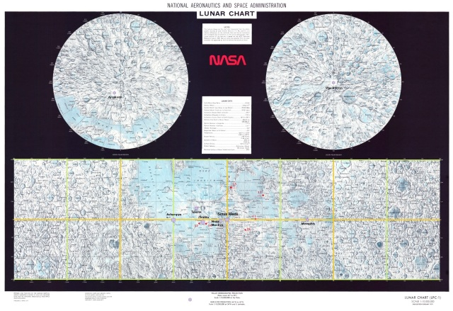 Lunar Chart NASA with cities