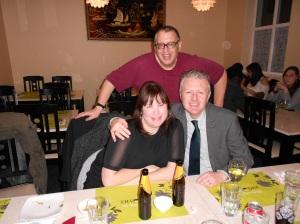 Michael with Sean Paul Teeling and Grainne Ahern, both of Ireland, both of Star Trek Grissom.