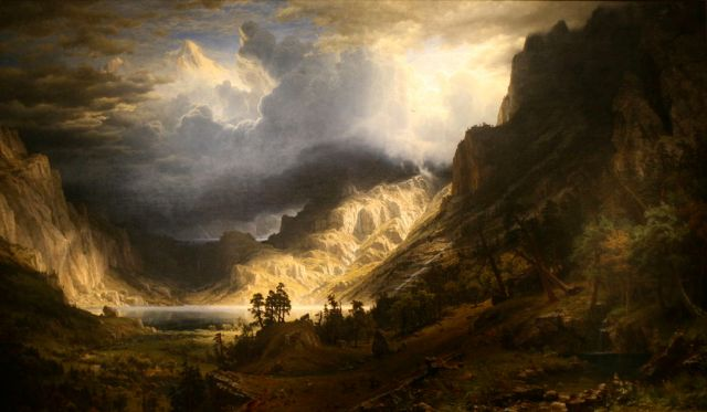 A Storm in the Rocky Mountains, by Alexander Bierstatd, 1866