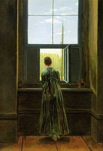 Frau am Fenster (1818-1822) by Caspar David Friedrich. This image has the feel of what a beloved might look like.