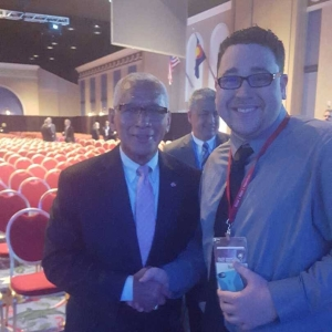 Sparkman and NASA director and former astronaut Dr. Charles Bolden