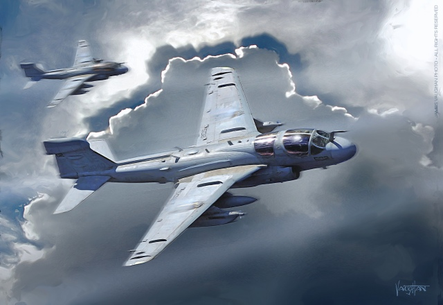 Prowler Painting by James Vaughan