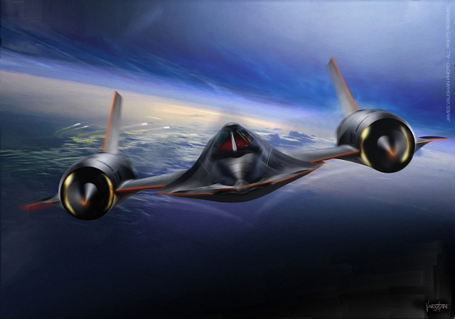 SR-71 - pourin on the coal - paint