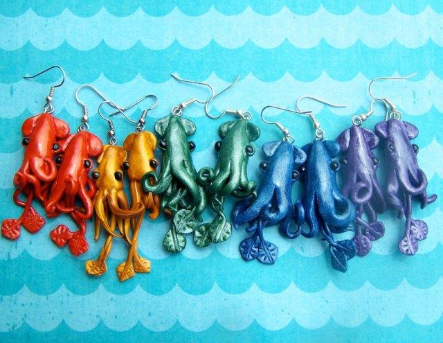 squid-earrings